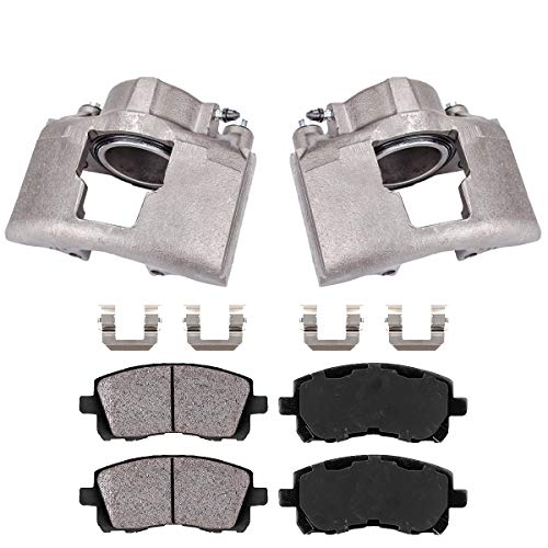 Callahan CCK04655 2 FRONT OE Remanufactured Brake Calipers  Brake Pads  Clips fit K3500 Ram 2500 3500 GMC K3500