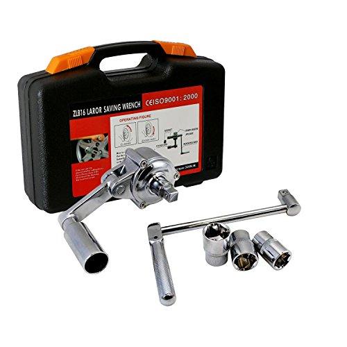 Tenive Heavy Duty Lug Nut Labor Saving Tool Torque Multiplier Socket Wrench Set with Case 3 sockets