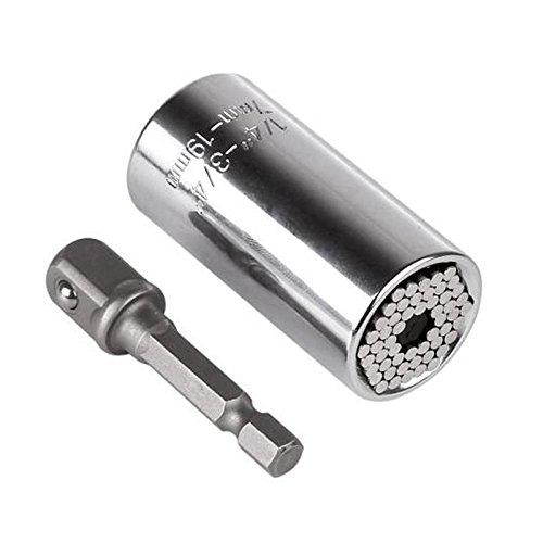 Universal Torque Wrench Head Set Socket Sleeve 7-19mm Power Drill Ratchet Bushin
