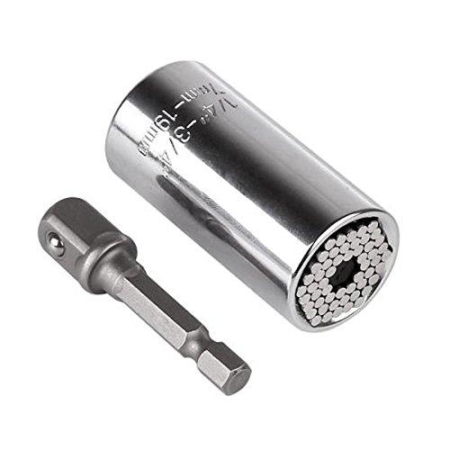 Universal Torque Wrench Head Set Socket Sleeve 7-19mm Power Drill Ratchet Bushing Spanner Key Gator Magic Grip Multi Hand Tools