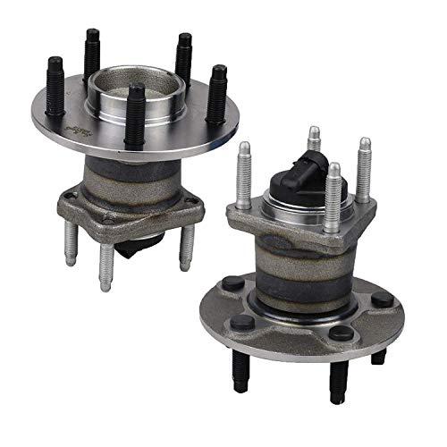 Bodeman - Pair 2 Rear Wheel Hub Bearing Assembly wABS for 2004-2012 Chevy Malibu 2005-2010 Pontiac G6  2007-2009 Saturn Aura