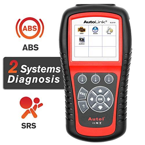 Autel AutoLink AL619 OBD2 Scanner ABS SRS Car Diagnostic Tool Turns Off Check Engine Light Code Reader