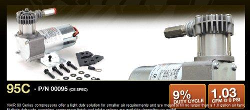 VIAIR 95C Compressor Kit with Omega Style Mounting Bracket 12-Volt 9 Duty Sealed