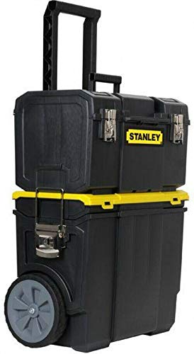 Destinie New Stanley 3-in-1 Rolling Tool Box Organizer Portable Workshop Cart Storage Bin