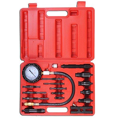 17pc Professional Diesel Engine Cylinder Compression Tester Tool Kit Set