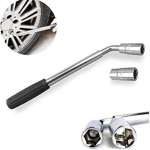 DICN Telescoping Wheel Lug Nut Wrench Kit 17192123MM Sockets Brace Extendable Car Tire Iron Garage Tools