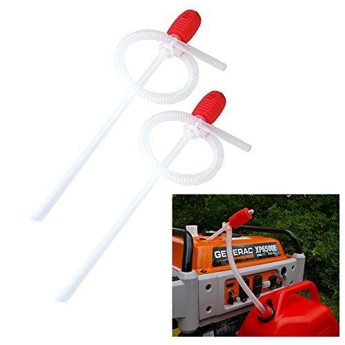 2 Super Siphon Pump Hand Pump Quick Release Hose Gas Water Deisel Fluids 60 CM