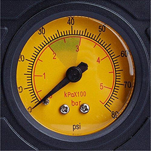 Ec-5 12-volt Car Power Outlet  Cigarette Plug Portable Air Compressor Tire Inflator with 80 PSI Pressure Gauge