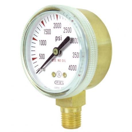G20B-F4000 GENTEC 2 inch 4000 PSI Pressure Gauge