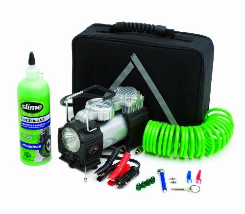 Slime 50063 Truck Spair Heavy Duty 12-Volt Inflator Tire Repair Kit