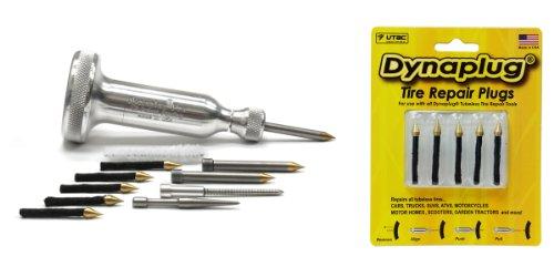 Dynaplug Tubeless Tire Repair Tool Kit Xtreme Aluminum along with Extra Repair Plugs 5-Pack