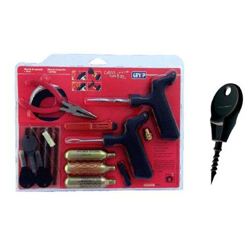 Gryyp GK013A TubeTubeless Tire Repair Kit CarMC Complete Kit Bag Tools
