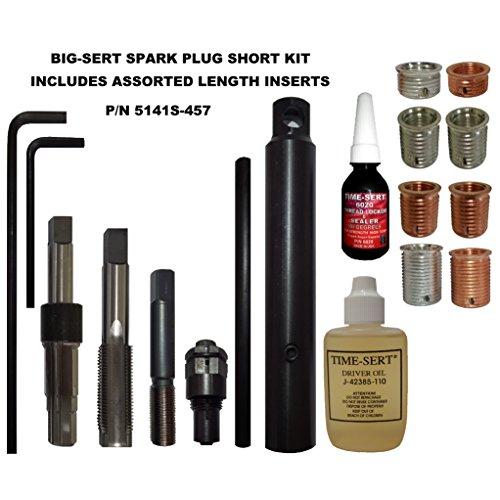 BIG-SERT M14x125 SPARK PLUG KIT SHORT WITH ASSORTED INSERTS Pn 5141S-457