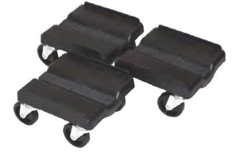 Super Caddy Four Wheel Dolly - 3 Piece Set - Black SUPER SPORT
