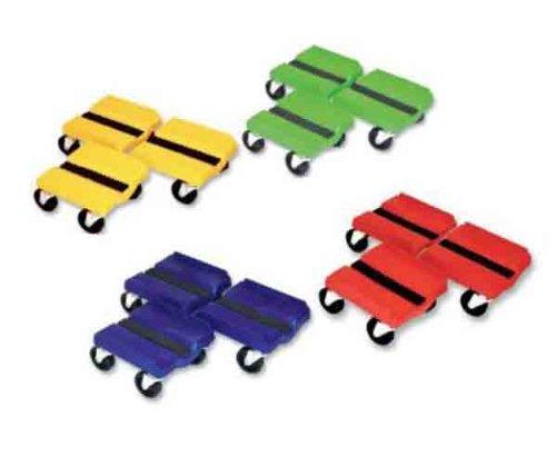 Super Caddy Four Wheel Dolly - 3 Piece Set - Yellow SS YEL