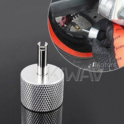 KiWAV motorcycle tire valve stem core remover universal