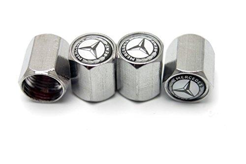 BZQq Zinc Alloy Tire Stem Valve Caps for Mercedes-Benz(A Set of Four Pcs)