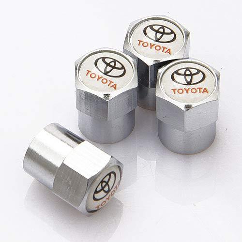 SXhhqhsm Zinc Alloy Chrome Toyota Logo Tire Stem Valve Caps for Apply to Toyota( A Set of 4 Plus an Extra)