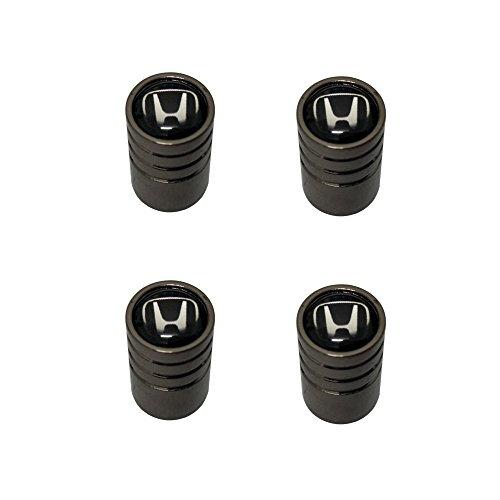 AEMULUS Black Chrome Auto Car Wheel Tire Air Valve Caps Stem Tire Decoration For Car Auto Honda