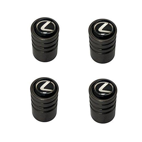 AEMULUS Black Chrome Auto Car Wheel Tire Air Valve Caps Stem Tire Decoration For Car Auto Lexus