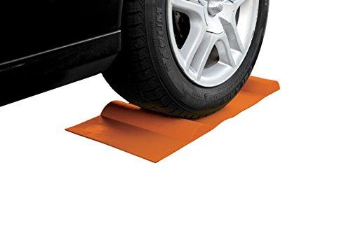 Park Smart Car Mat - Garage Curb Parking Aid or Tire Wheel Chock Stops