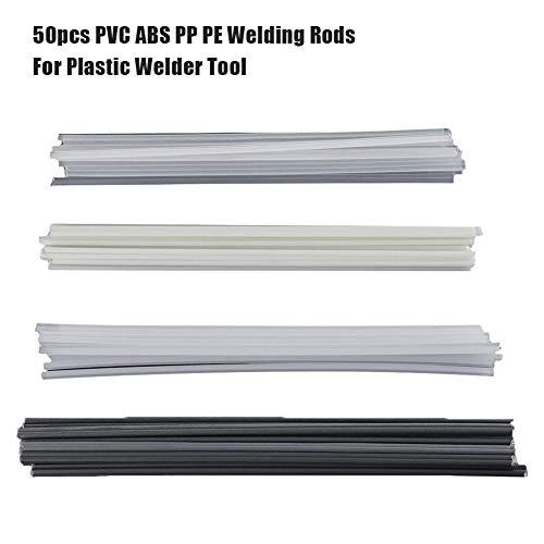 Nicemeet 50 Pieces Plastic Welding Rods ABSPPPVCPE Welder Sticks Welding Soldering Supplies for Plastic Welder