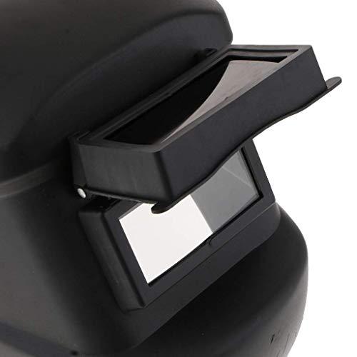 nouler Juler Head-Mounted PVC Welding Machine Welding Helmet Flip Front Lens Black Glasses Unbreakable