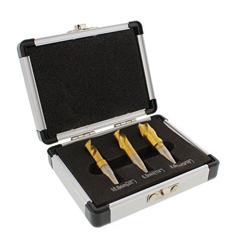 ABN Spot Weld Cutter Drill Bit 3-Piece Set - High-Speed Steel HSS Cobalt Titanium Coated Welding Remover Bits Tool Kit