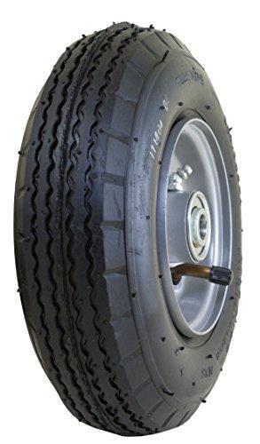 Marathon 280250- 4 Pneumatic Air Filled All Purpose Utility Tire on Wheel 3 Centered Hub 12 Bearings