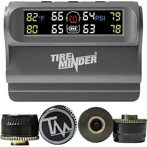 TireMinder Solar Powered Trailer TPMS 4 Tire Kit