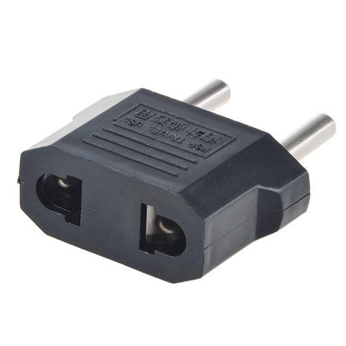SLLEA US USA to EU Euro Europe Power Jack Wall Plug Converter Travel Adapter Adaptor