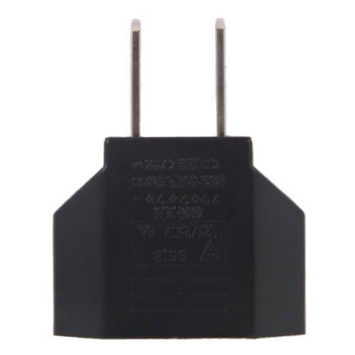 yan_LotX EUEuro To USUSA Travel Power Converter Adapter Adaptor 2-Pin Plug Socket