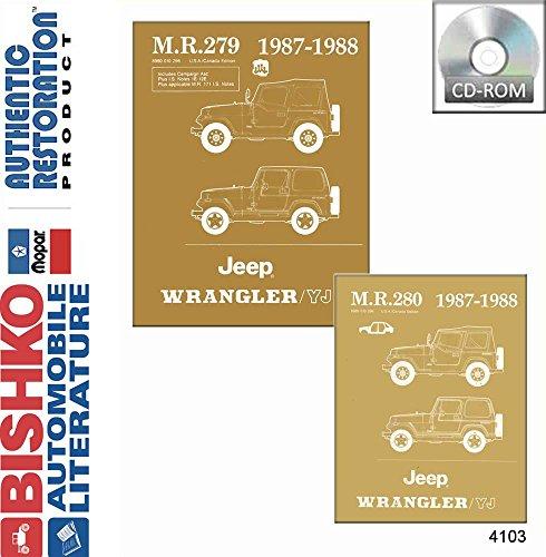 1987 1988 Jeep Wrangler Yj Shop Service Repair Manual CD Engine Electrical