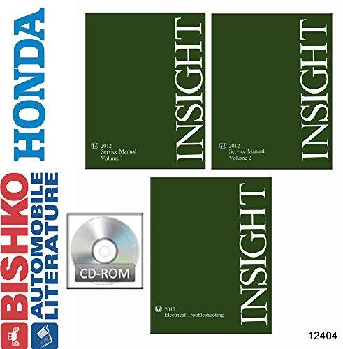 2012 Honda Insight Shop Service Repair Manual CD w ETM Manual Engine Electrical