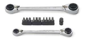 KD Tools 85200 Gearwrench 13pc Sae Quadbox Dbl Box Ratcheting Wrench Set