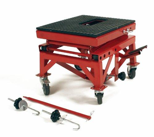 Dragway Tools 300 Lb Motorcycle Dirt Bike Stand Jack Lift Hoist Cart Wheels