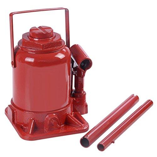 Goplus 20 TON Hydraulic Bottle Jack Low Profile Automotive Shop Axle Jack Hoist Lift