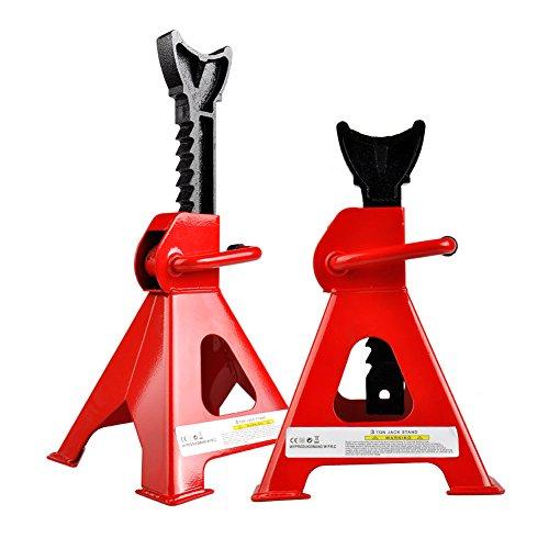 Steel Jack Stands2 Ton Capacity114in-165in Lift RangeCar Lift Home Garage Red 1 Pair