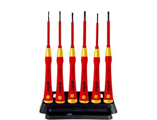 Wiha PicoFinish 2270P K6 38996 Electric Screwdriver Set with SlottedPhillips Head Set of 6 by Wiha