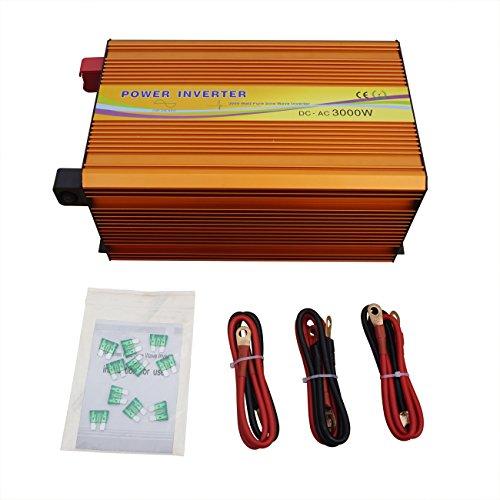 3000W Solar Power Inverter DC 24V to AC 110V Pure Sine Wave Inverter for Solar Panel Kit