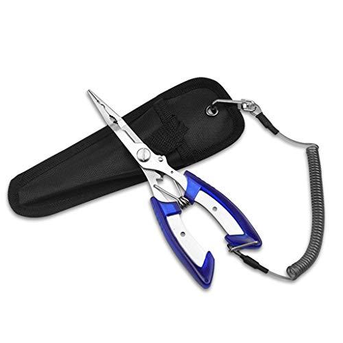 HoHome 65 Fishing Pliers Split Ring Hook Remover Scissors Grips Fish Tackle Multi-purpose Fishing Pliers