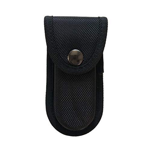 LIOOBO Oxford Cloth Fishing Pliers Sheath Electrician Scissors Welding Pliers Belt Holder Gardening Tool Case Pouch Bag - Size S Black