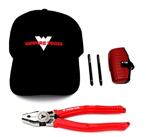 VamPLIERS Worlds Best Pliers Recessed Screw Extractor with 2 in 1 Bit Set PRO 8 Linemans Screw Extraction Pliers  Vampire Tools Cap