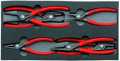 Knipex 00 20 01 V02 Circlip Snap-Ring Pliers Set 6 Piece