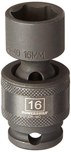 Powerbuilt 647227 38 Dr 6 Pt Metric Universal Impact Socket 16mm