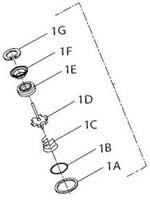 INGERSOLL RAND COMPANY  SOCKET RETAINER KIT - PART  IR2115-K425