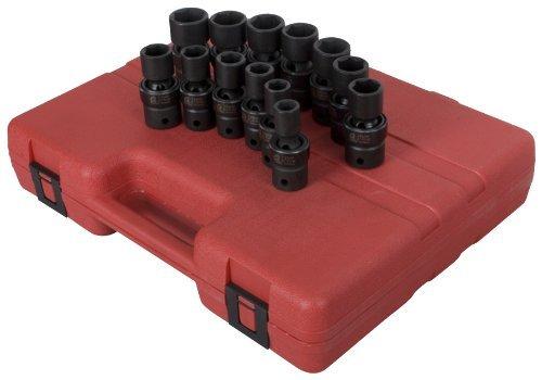 Sunex 2665 12-Inch Drive Metric Universal Impact Socket Set 13-Piece by Sunex
