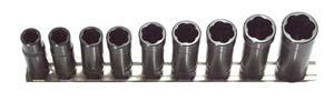 Hb Products Inc TSMD3809B 9 Piece 38 Drive Deep Metric Turbo Socket Set