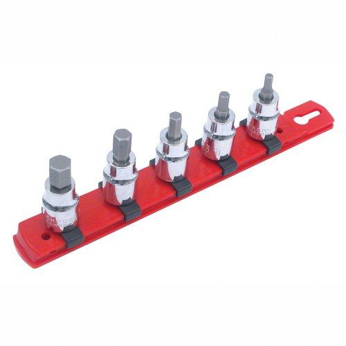 Wiha 71393 Socket Set 38-Inch Drive Sockets Hex Inch 5 Piece