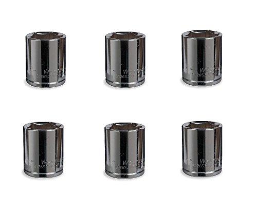 Westward 12 Drive 18mm Chrome Vanadium Socket 6pt Chrome Finish 6-pack